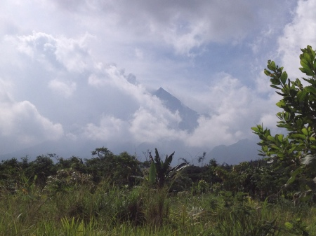 The elusive peak of Mount Merapi