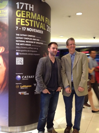 My host (right) and a young film director at the German Film Festival