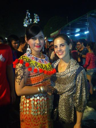 Standing with a student from Kalimantan after the closing ceremony