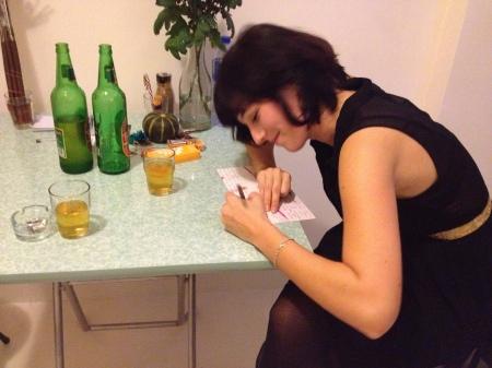 Drinking beers, transcribing fears