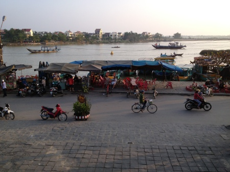 Riverside view in Hoi An