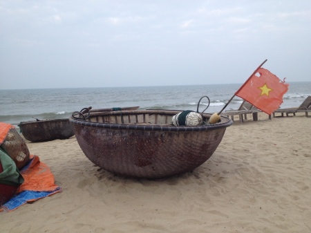 A traditional boat used by Vietnamese fishermen