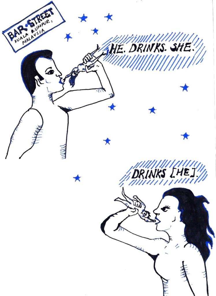2. She Drinks