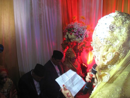 The bride's poetic farewell; to her parents as a ceremonial transference into her husband's care